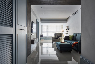 富裕型100平米四英伦风格客厅设计图