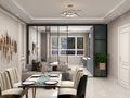 经济型90平米混搭风格客厅图片