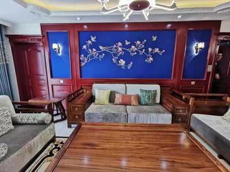 140平米四室三厅混搭风格客厅图片大全