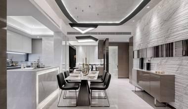 120平米三室一厅港式风格餐厅装修图片大全