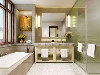 20万以上140平米别墅英伦风格卫生间效果图