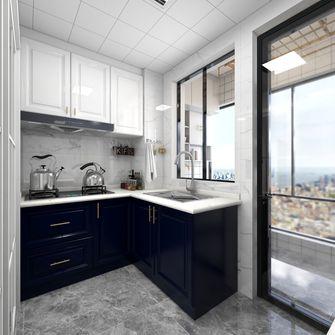 140平米三室一厅轻奢风格厨房图片