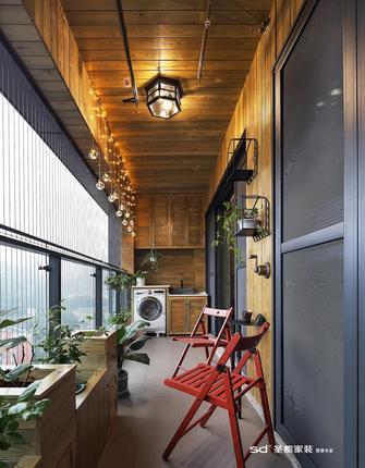 110平米三室两厅工业风风格阳台设计图