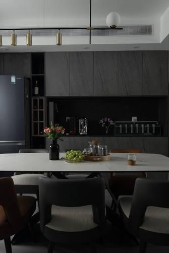 3-5万130平米三室三厅现代简约风格餐厅图片大全