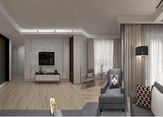 富裕型140平米三室一厅现代简约风格客厅装修效果图