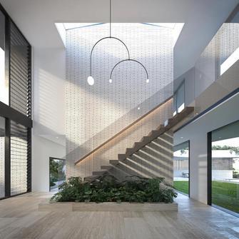 140平米别墅轻奢风格楼梯间图片大全