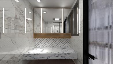 富裕型50平米公寓日式风格卫生间装修效果图