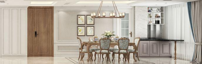 豪华型110平米三室一厅美式风格餐厅装修案例