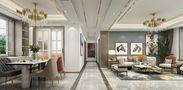 140平米四室四厅轻奢风格餐厅图