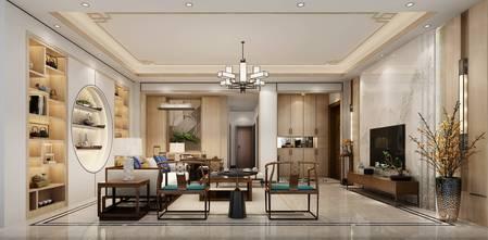 20万以上140平米四中式风格客厅装修图片大全