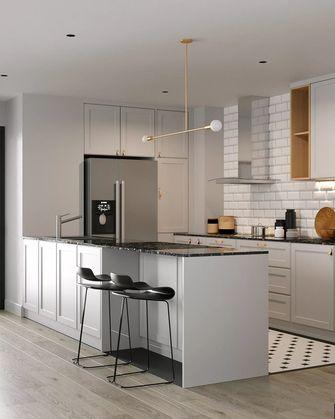 富裕型120平米三室两厅北欧风格厨房图