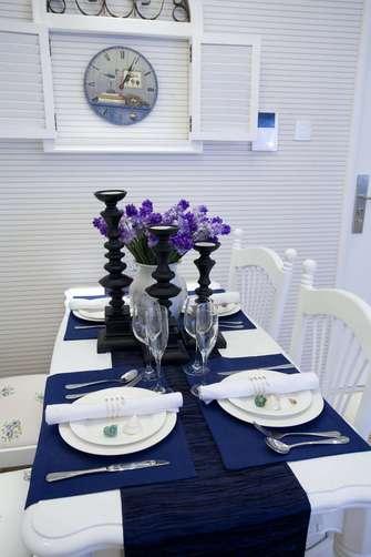 140平米四地中海风格餐厅图片