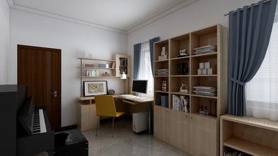 富裕型100平米三室两厅中式风格书房装修案例