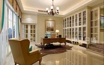 140平米别墅美式风格书房装修效果图
