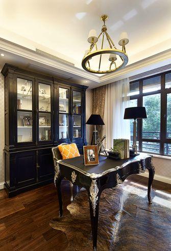 豪华型110平米三室一厅欧式风格书房图片