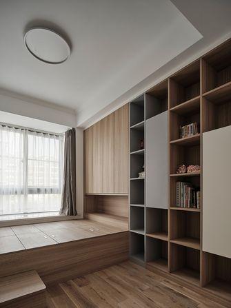 富裕型130平米三室两厅日式风格书房图
