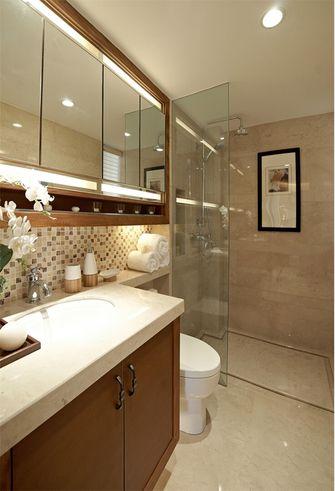 富裕型100平米三室一厅中式风格卫生间图片