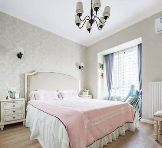 富裕型100平米三室两厅欧式风格卧室装修案例