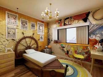 20万以上110平米三英伦风格卧室装修案例