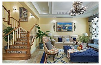 富裕型110平米复式田园风格楼梯间效果图