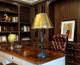 豪华型110平米三室一厅欧式风格书房装修图片大全