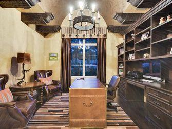 140平米美式风格书房装修效果图