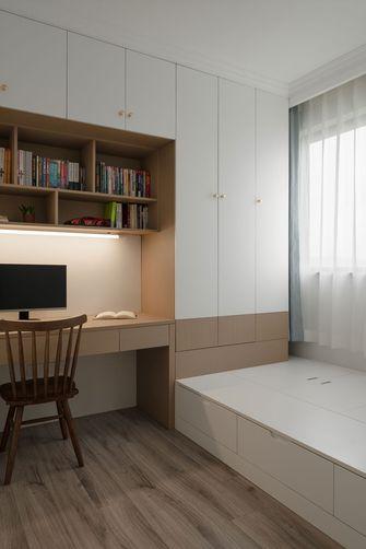 5-10万90平米三室三厅北欧风格书房图