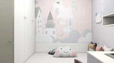 经济型60平米一居室北欧风格卧室图片