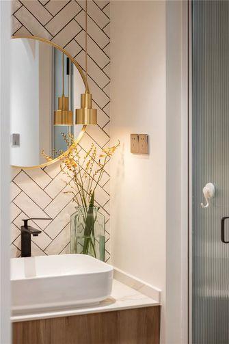 富裕型90平米三室两厅日式风格卫生间设计图