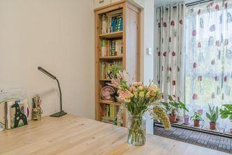 富裕型100平米三室两厅日式风格书房图片