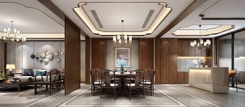 140平米中式风格客厅效果图