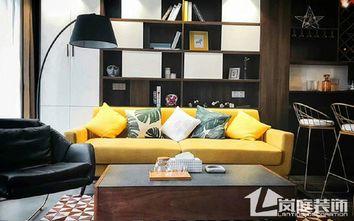 15-20万100平米三室一厅混搭风格客厅欣赏图