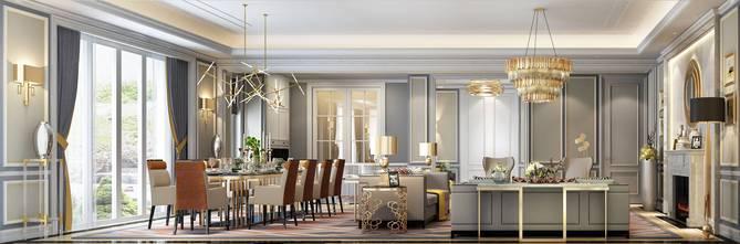20万以上140平米欧式风格厨房图