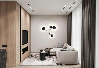 富裕型80平米三室两厅现代简约风格客厅图片
