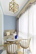富裕型130平米三室两厅美式风格阳台欣赏图