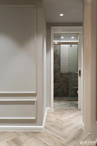 富裕型80平米三室两厅美式风格走廊图片大全