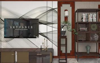 40平米小户型中式风格客厅欣赏图