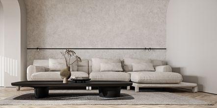 130平米一居室日式风格客厅图