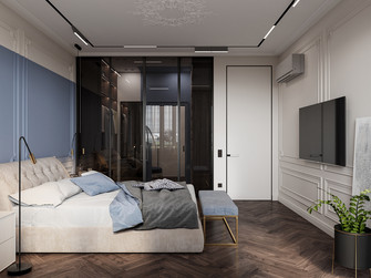 10-15万90平米现代简约风格卧室欣赏图