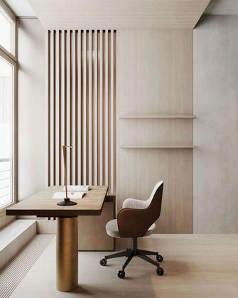 富裕型140平米三室一厅日式风格书房图