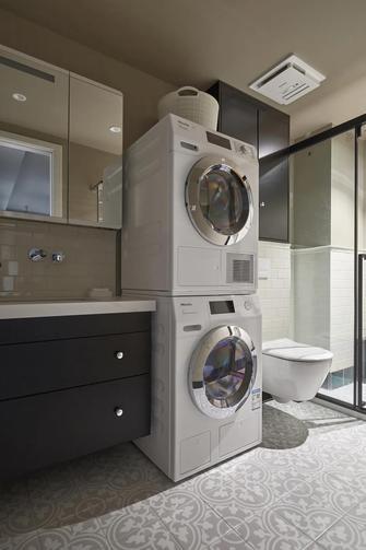 豪华型60平米一室一厅混搭风格卫生间装修案例
