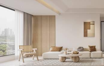 富裕型80平米三室一厅现代简约风格客厅设计图