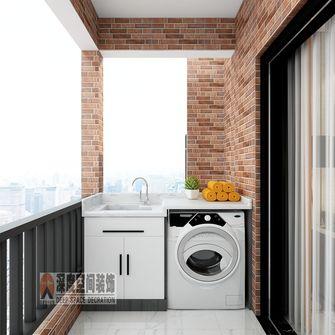 5-10万110平米三室两厅轻奢风格阳台装修效果图