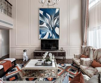 20万以上140平米复式欧式风格客厅图