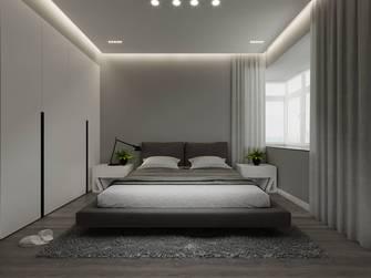 富裕型120平米三室两厅英伦风格卧室图
