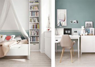 豪华型90平米三室一厅北欧风格青少年房效果图