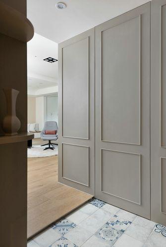 豪华型100平米三室一厅日式风格玄关图