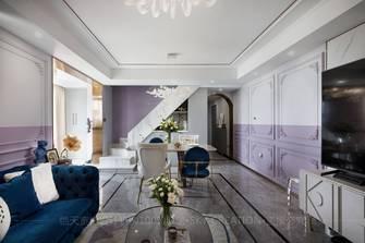 15-20万90平米复式法式风格客厅图片