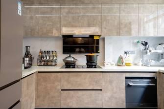 富裕型100平米三室三厅港式风格厨房装修案例