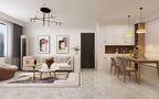 10-15万120平米现代简约风格客厅欣赏图